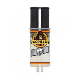Εποξειδική κόλλα Gorilla δύο συστατικών διαφανής 25ml