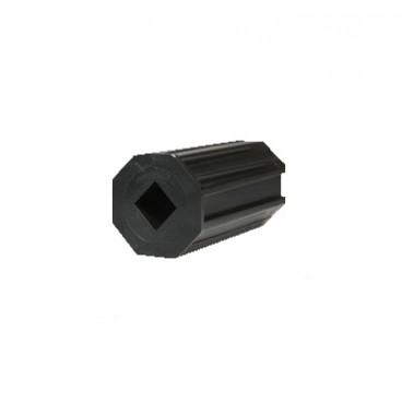 PVC κούπα με τετράγωνη τρύπα για ρολά στόρια