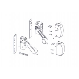 Μηχανισμός μπάρας πανικού με U κλειδαριά τριών σημείων