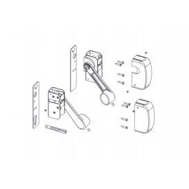 Μηχανισμός μπάρας πανικού με ίσια κλειδαριά τριών σημείων