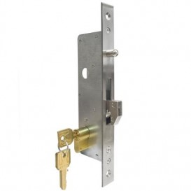 Κλειδαριά Γάντζου για συρόμενες πόρτες με κύλινδρο