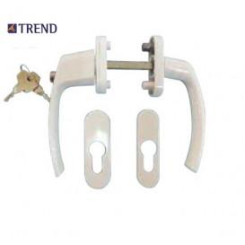 Λαβή TREND διπλή για πόρτες και παράθυρα αλουμινίου PVC με περιμετρικό μηχανισμό με κλειδί