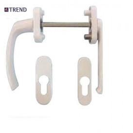 Λαβή TREND διπλή ρολών για πόρτες και παράθυρα αλουμινίου και PVC με περιμετρικό μηχανισμό
